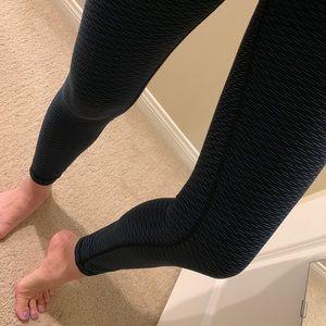 lululemon athletica Pants - Lululemon high rise black green leggings pants